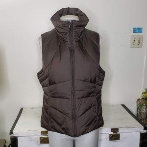 KENNITH COLE REACTION Full Zip Brown Puffer Vest